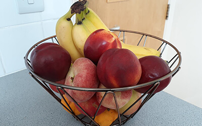 We get a brilliant assortment of fruit every Monday which we enjoy snacking on throughout the week!